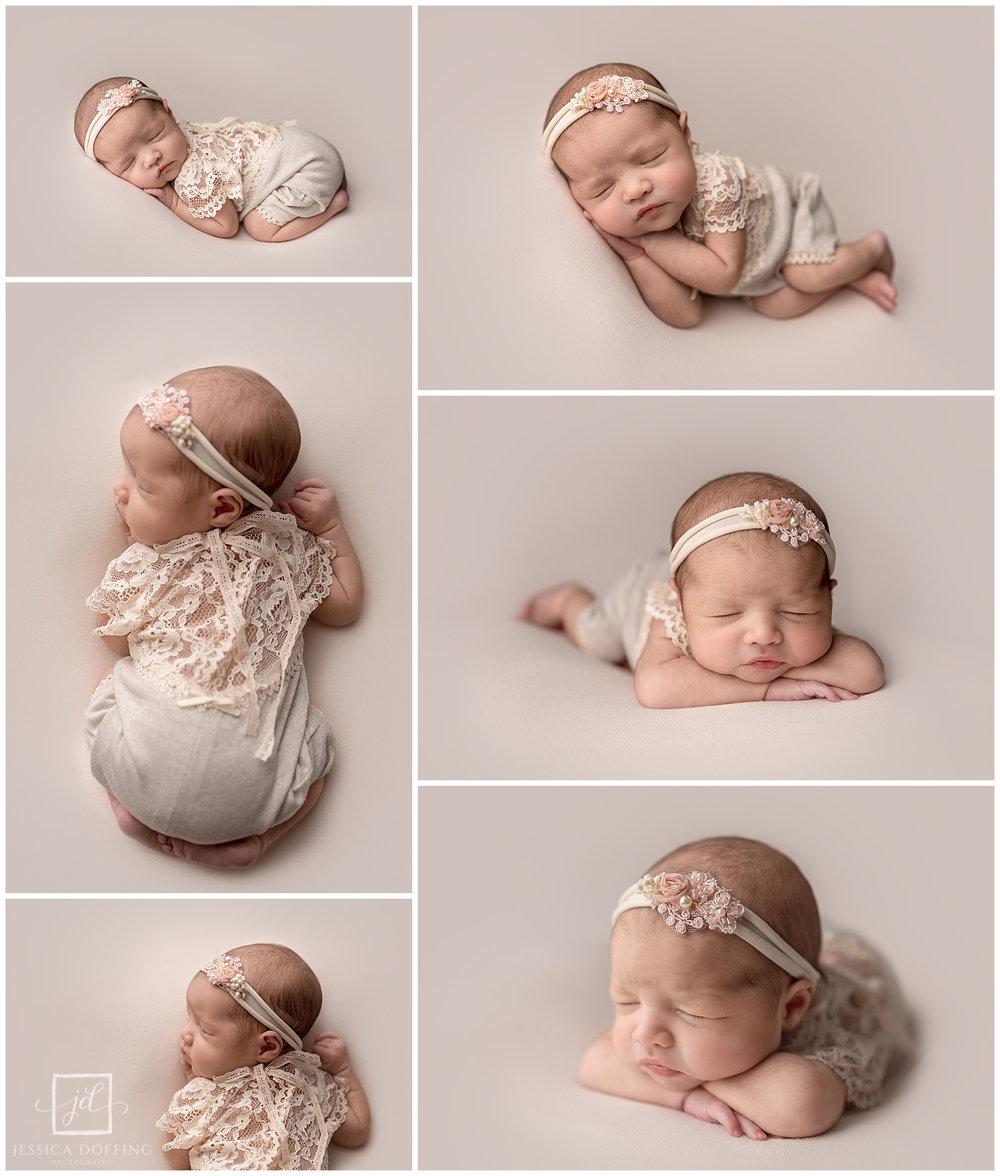 newborn girl beanbag poses