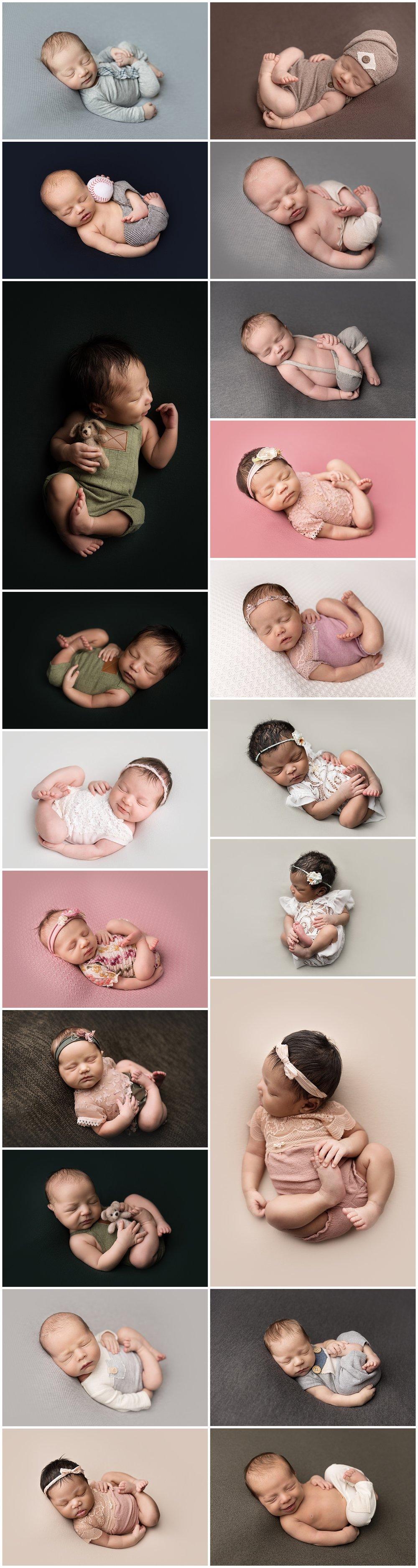 huck finn newborn beanbag pose