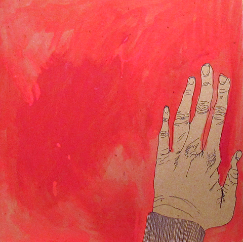 red hand by Sarah Seldomridge