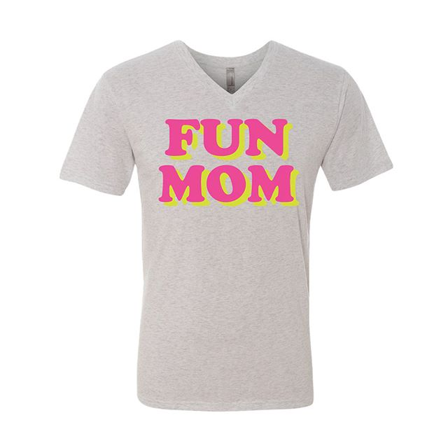 Now available!! FUN MOM! shirts. This fun, comfy shirt and our Raising arrows shirt are available only til tomorrow night!! So moms tag your husband and kids to let them know you want one! 😜