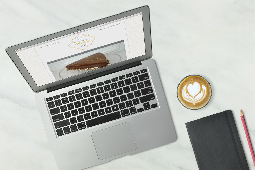 New website for La Patisserie de Grace.