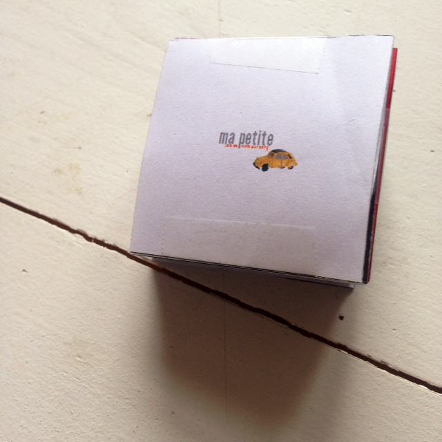 Mijn eerste probeersels in een dummy van 2 x 2 cm!