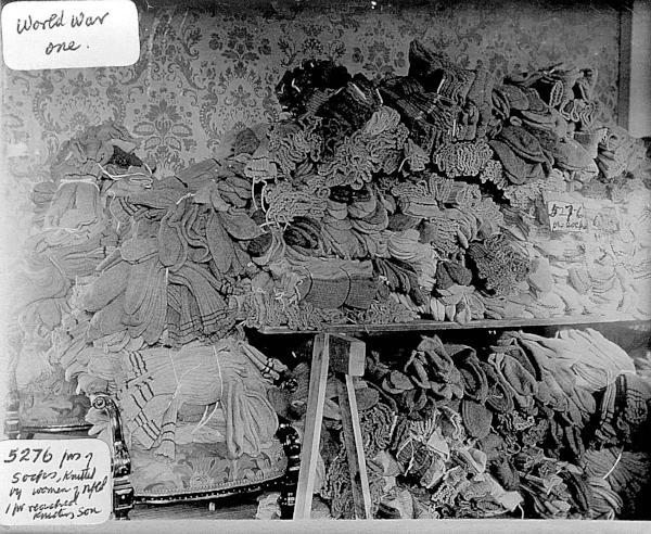 5,276 pairs of soldier socks waiting to head overseas Credit: Mary Southcott Collection, Archives and Special Collections, Memorial University of Newfoundland