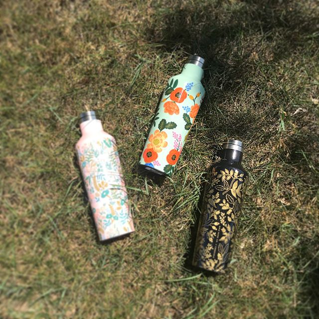 NEW Rifle Paper Co x Corkcicle Tumblers and Canteens! Great for hot & cold!  #specseyewearstudio #commerce #summer #riflepaperco #corkcicle #eyewear #accessories