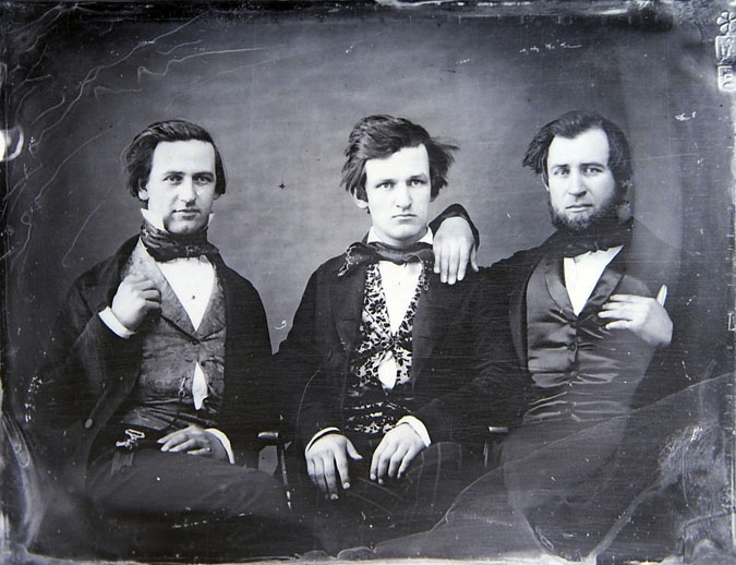 William Laughlin (at right) with brothers Samuel and Alexander