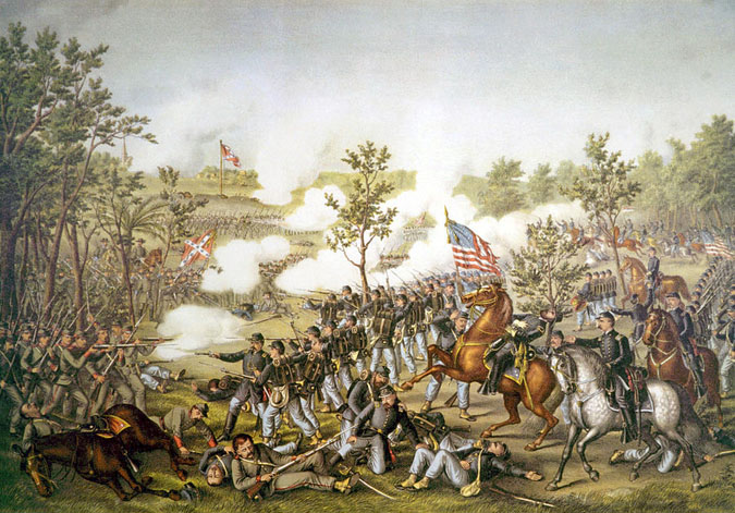 Battle of Atlanta, by Kurz and Allison