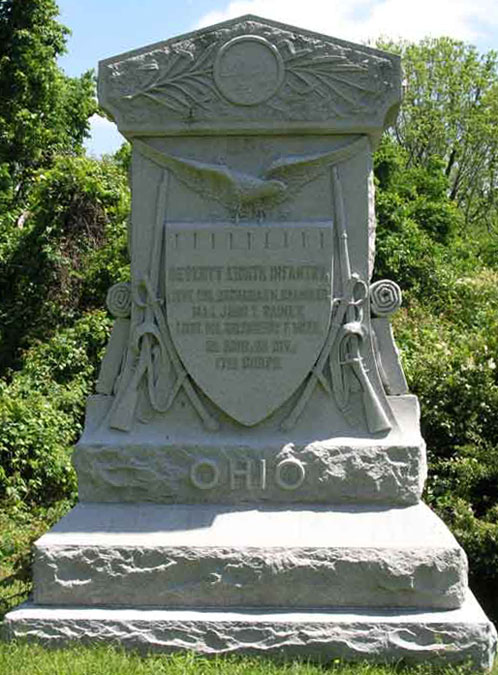Marker commemorating the 78th Ohio Volunteer Infantry at Vicksburg