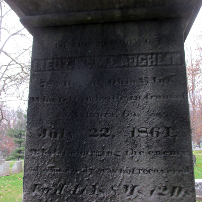 William Laughlin's cenotaph (Peace4Me, FindAGrave.com)