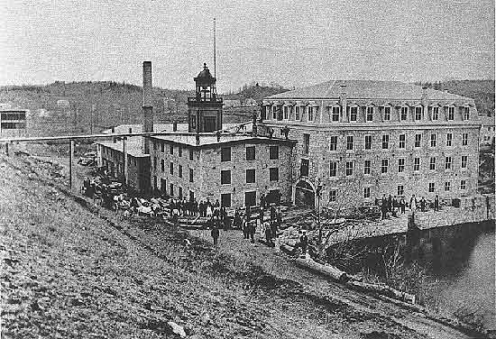 Gilbert and Bennett factory (destroyed by fire in 1874)