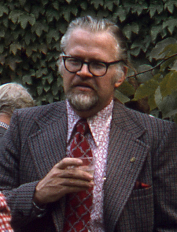 Wilbert Hasbrouck at Glessner House in the 1970s