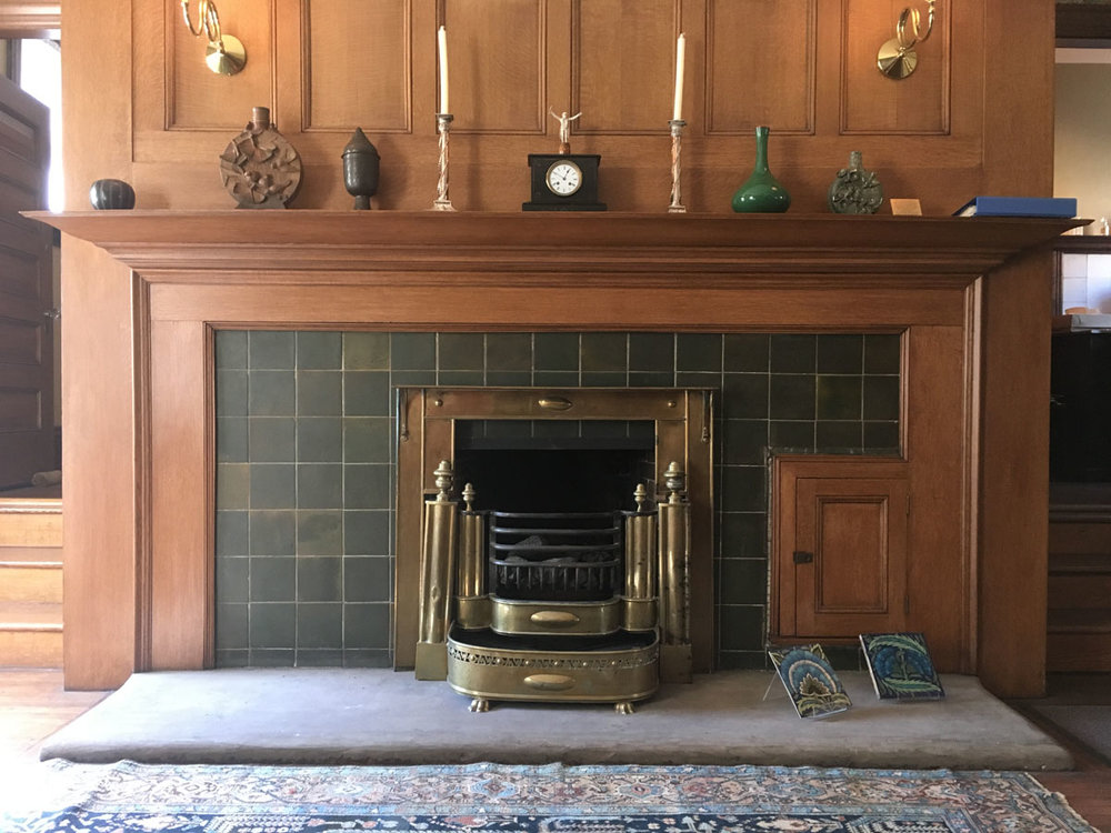 Fireplace prior to restoration