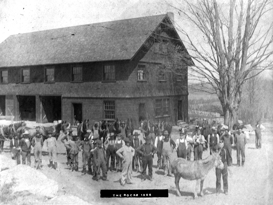 Tool Building, 1905 (Togo the mule in foreground)