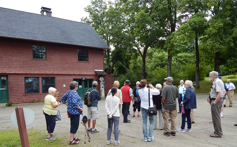 Glessner House docents in front of the Tool Building, August 2017