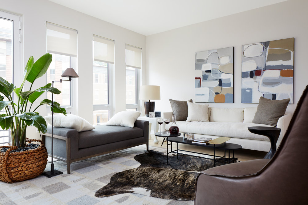 Model Apartment in Capitol Hill, Washington DC - In collaboration with Braunohler Design Associates