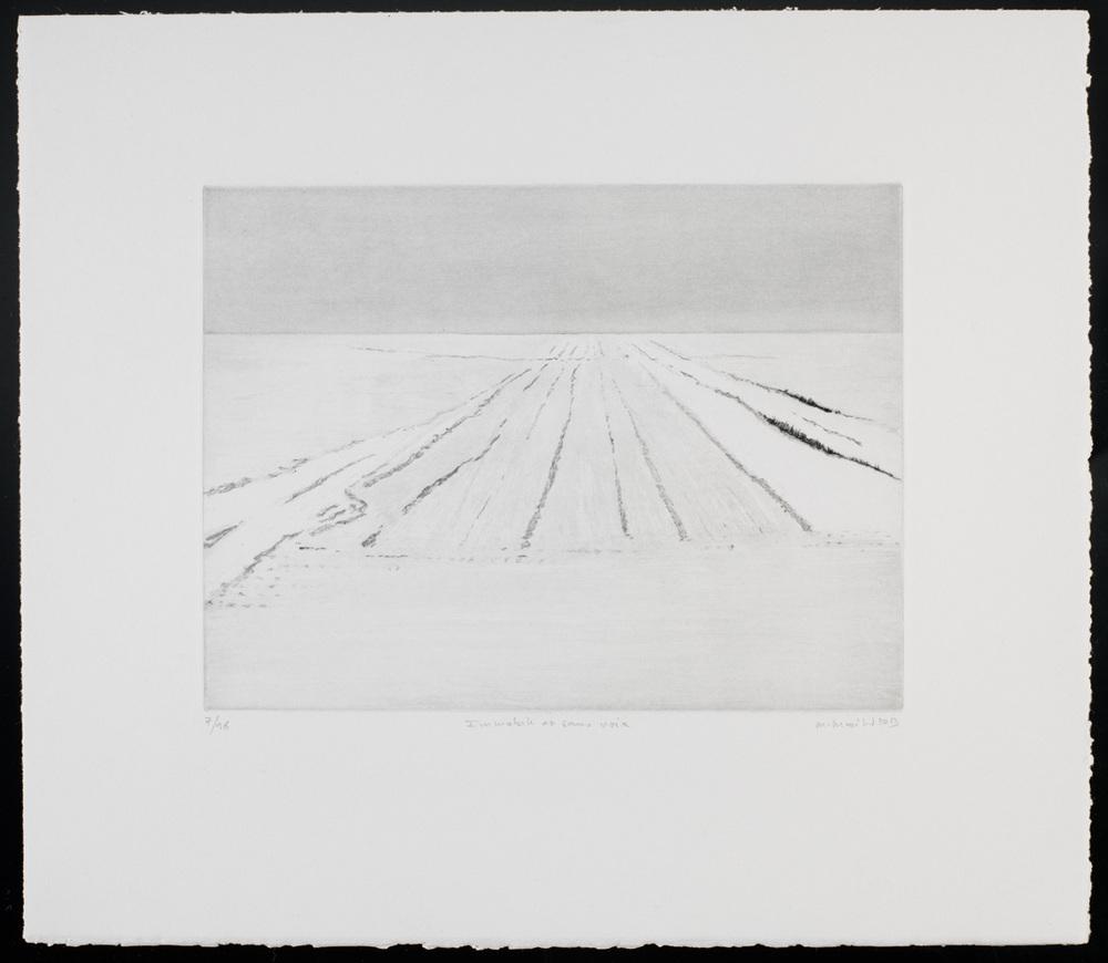 Grande Sainte Victoire. Acrylique et sable sur toile. 97x147 cm. 2004