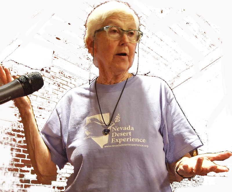 Sister Megan Rice in Maine, speaking to Peace Action Maine