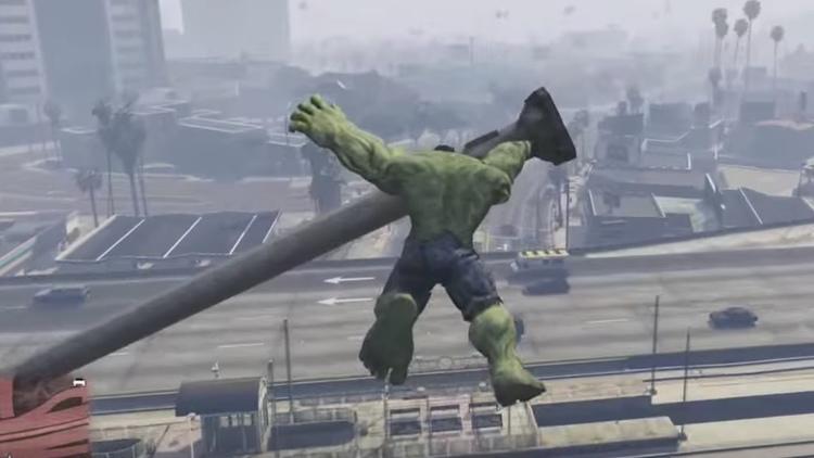 Watch The Incredible Hulk Violently Smash in GTA V Mod Video