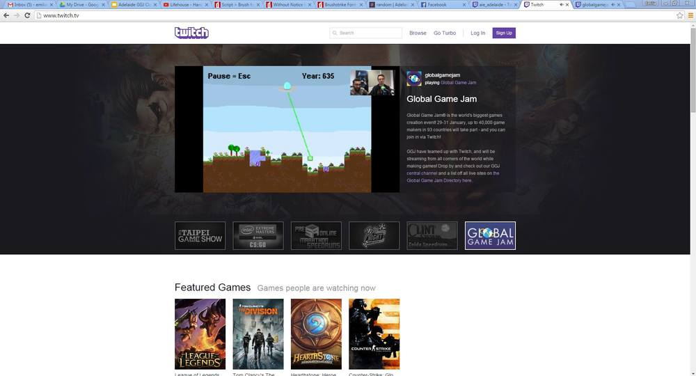 Partick Sigley's Alien Evolution GGJ15 Title Featured on Twitch Front Page.jpg