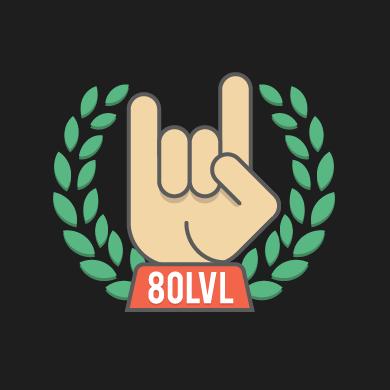 80 Level Logo