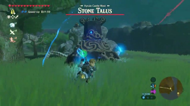 Two Of Zeldas Largest Enemies Will Throw Down Against Each Other If Provoked The Guardian Would Typically Be Too Fast For Slow Moving Stone Talus