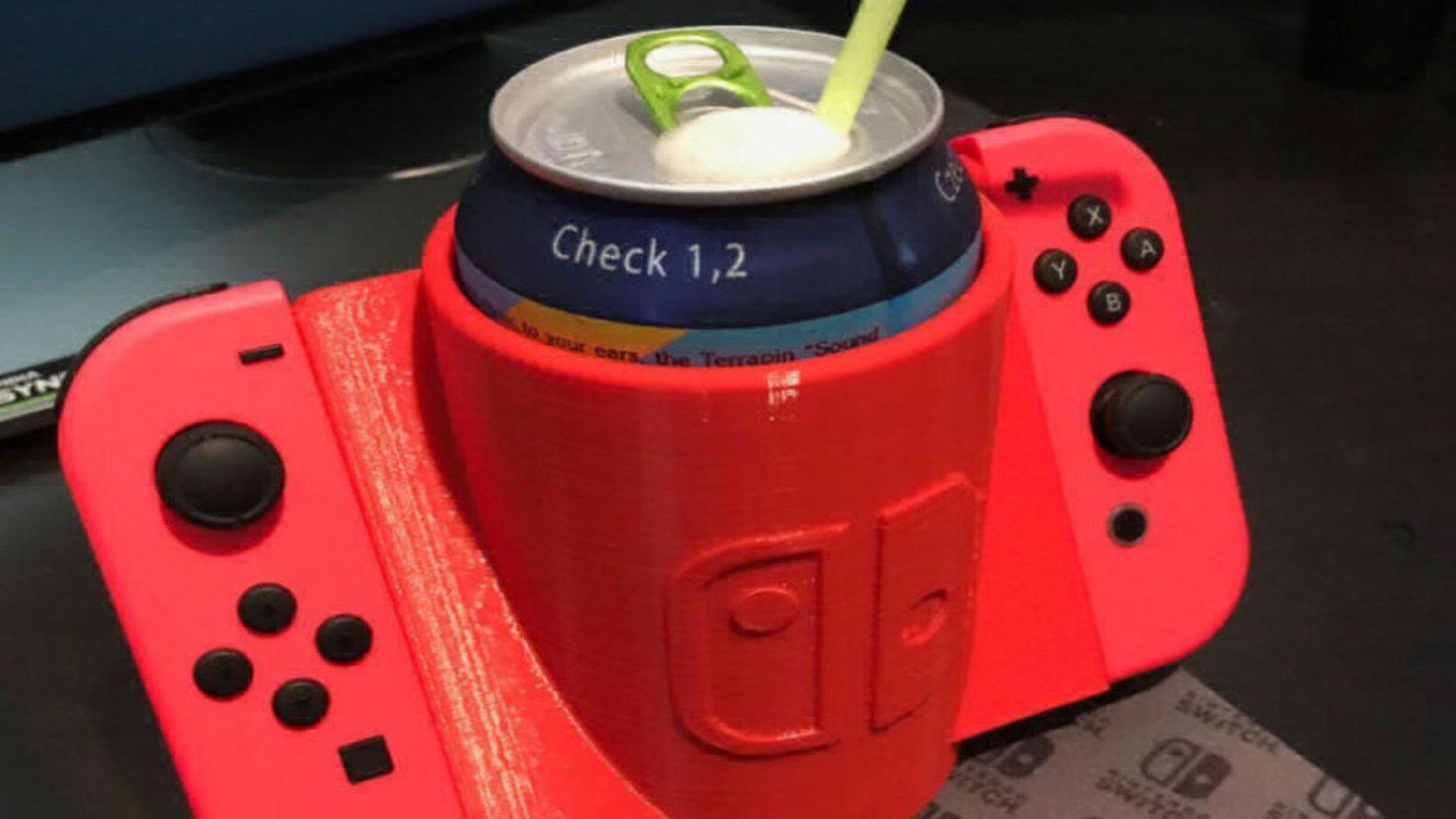 you can 3d print your very own nintendo switch cup holder with this