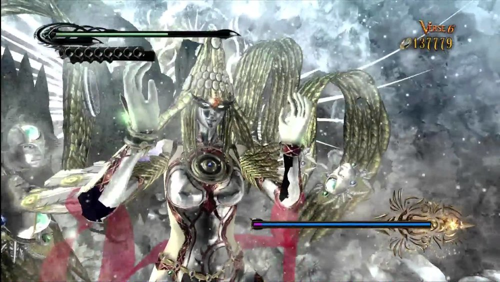 A world-altering encounter for our fearless Bayonetta:the biggest boss of them all - God!