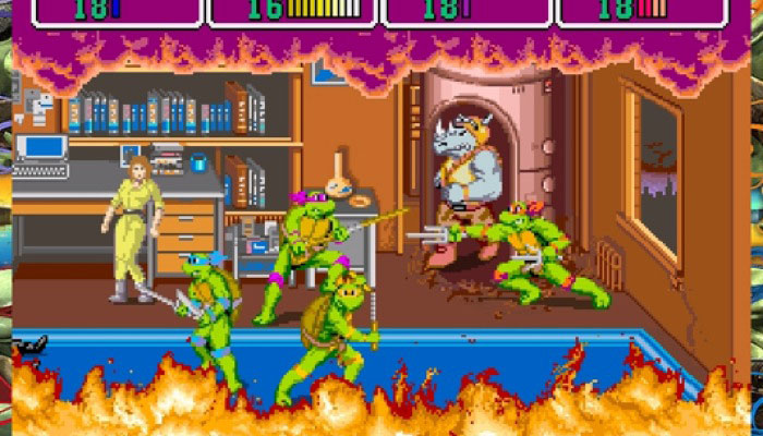 The amazing TMNT Arcade game in all it's glory!