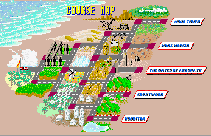 One of my favourite aspects of the Outrun series.  Being able to choose your route