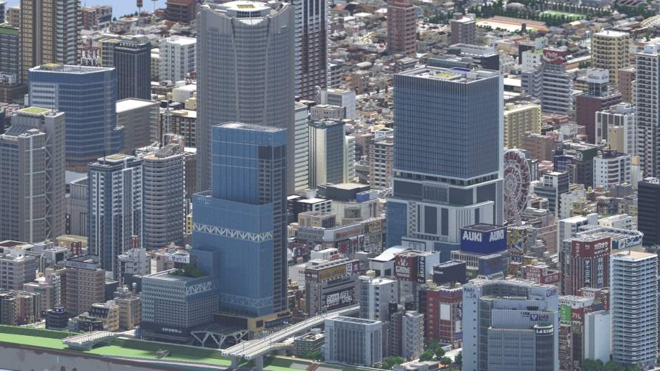 check out this fictional japanese city made in minecraft gametyrant