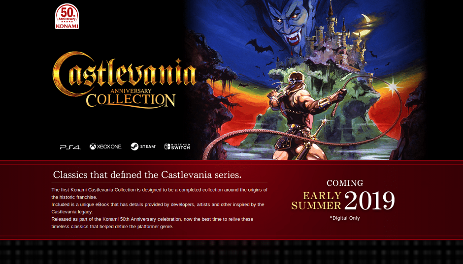 All The Games Included In The Upcoming CASTLEVANIA