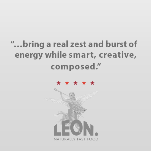 """""""We love working with Karen and the Bullseye team. They bring a real zest and burst of energy to proceedings. Smart, creative yet composed and thoughtful to ensure we yield the desired outcome. The deep relationships have certainly helped us land our brand.""""   Glenn Edwards,  Managing Director, LEON Restaurants USA"""