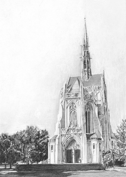 "Heinz Chapel (Pittsburgh, PA), 5""x7"""