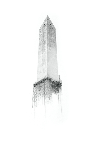 "Washington Monument, 18""x24"""