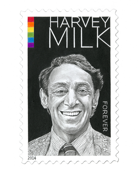"Harvey Milk, 8""x10"""