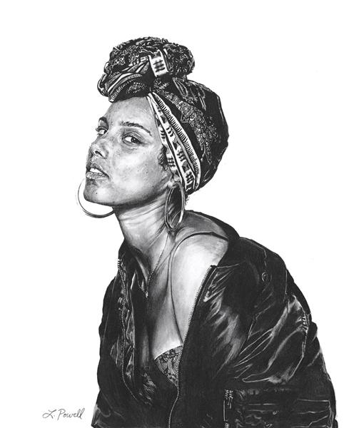 "Alicia Keys, 8""x10"""