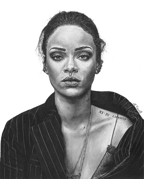 "Rihanna, 8""x10"""