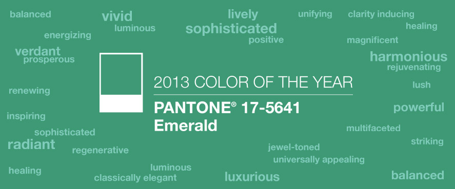 design pantone emerald green