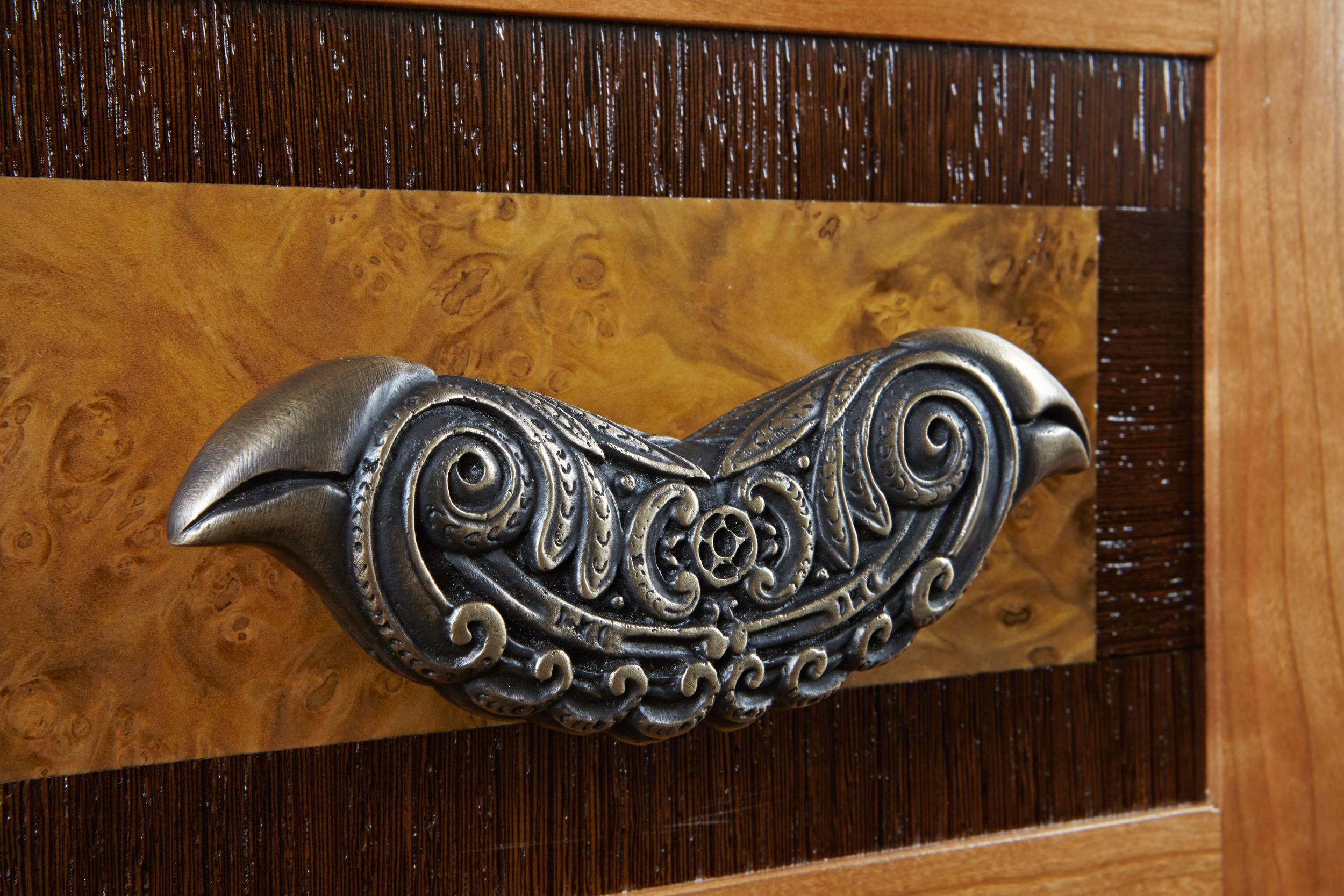 Bird pull from Hawaiian collection of architectural hardware from Martin Pierce