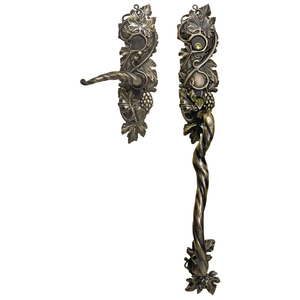 Solid bronze door lever from Grapevine collection at Martin Pierce Custom Hardware