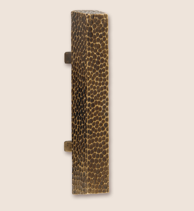 Rectangular pull from Textured collection of custom hardware from Martin Pierce