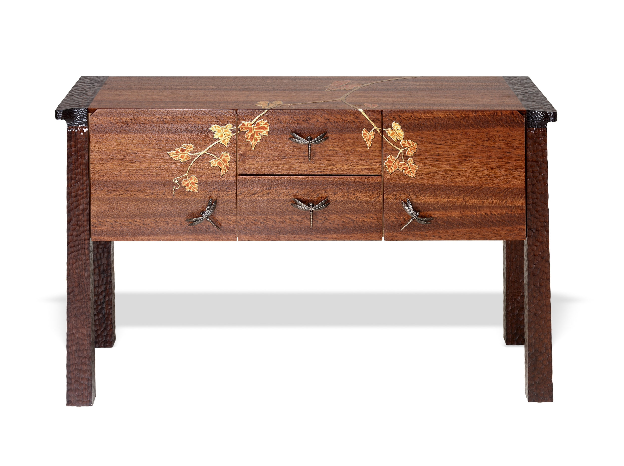 Ascot sideboard with vine japanning detail from Martin Pierce Custom Hardware