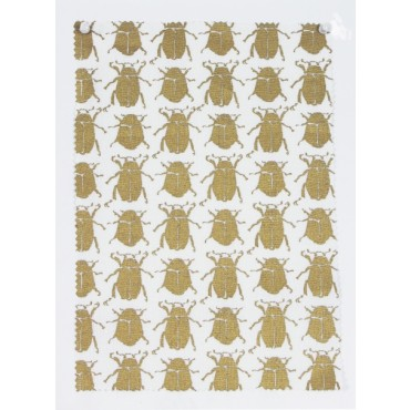 Scarab motif fabric and wallpaper from Ivo