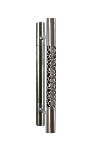 Morphic cylindrical door pull from Martin Pierce Custom Hardware