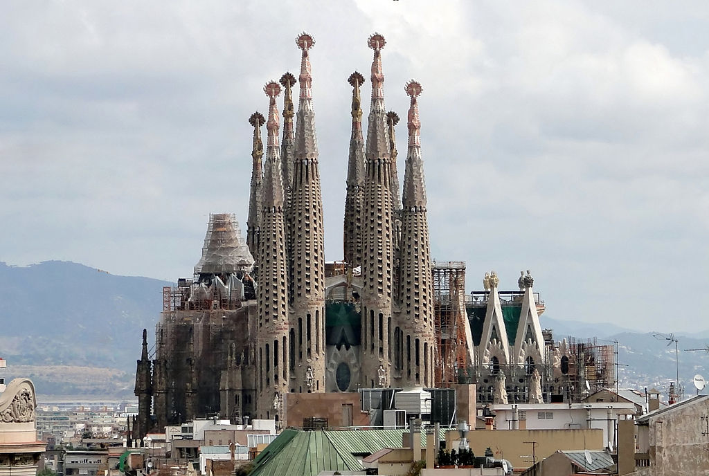 Sagrada Familia by Gaudi located in Barcelona Spain courtesy of wikipedia