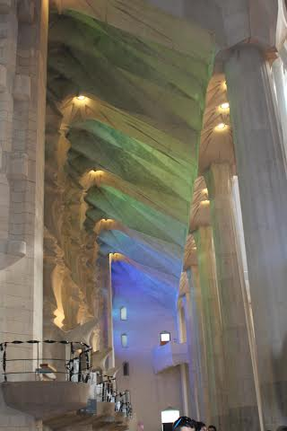Interior of Sagrada Familia photo by Martin Pierce Hardware