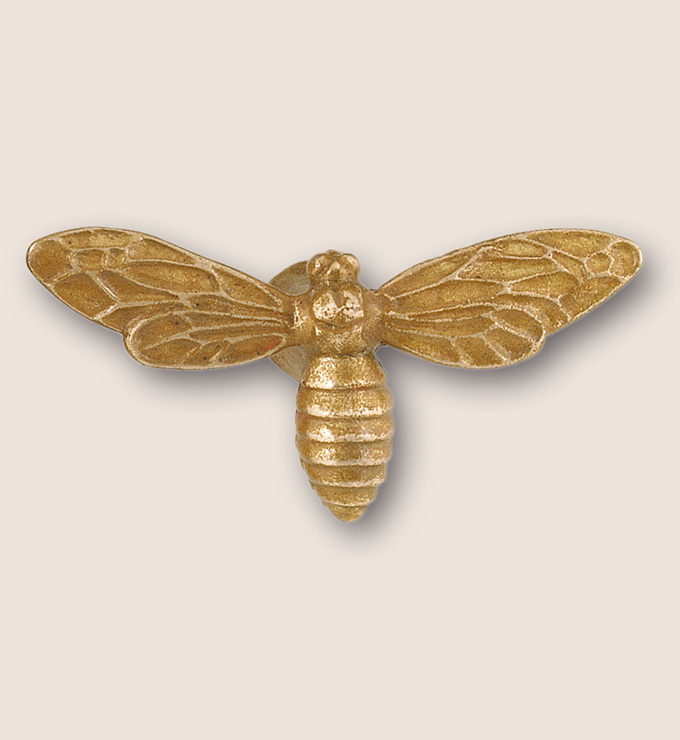 Bronze wasp pull with open wing design from Martin Pierce Hardware