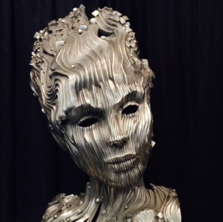Gil Bruvel sculpture titled  River photo by Martin Pierce Hardware