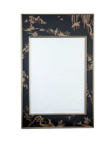 Vintage 1970's Chinoiserie mirror available via Dering Hall Martin Pierce Hardware Los Angeles, Ca  90016