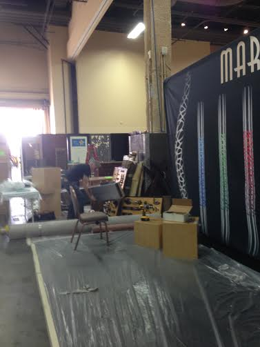 Setting up booth #2277 at 2015 HD Expo Martin Pierce Hardware Los Angeles, Ca  90016