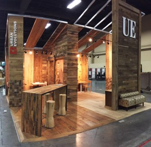 Urban Evolutions booth at the 2015 HD Expo Martin Pierce Hardware Los Angeles Ca  90016